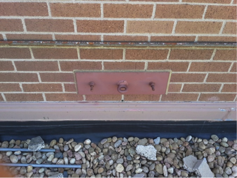 Existing anchors outside of mechanical penthouse.